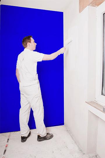 Wandfarben Streichen Innengestaltung Farbwirkung