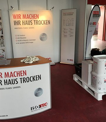 Messestand ISOTEC Allgäu Kempten Messe